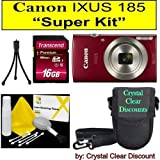 "Canon Ixus 185""Super Kit"" (Red)"
