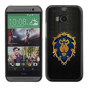 All Phone Most Case / Hard PC Metal piece Shell Slim Cover Protective Case Carcasa Funda Caso de protección para HTC One M8 Majestic Lion Crest