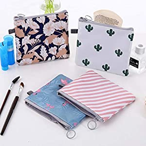 SUPVOX 4PCS Sanitary Napkins Bag Zipper Tampons Collect Bags Pouch Organizer Holder for Women and Girls