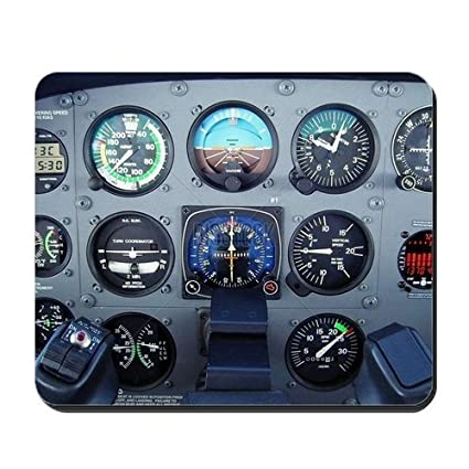 Small Cessna Airplane Instrument Panel - Non-Slip Rubber Mousepad, Gaming  Mouse Pad