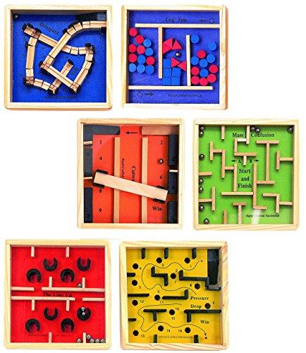 1 Stück _ Geschicklichkeitsspiel / Knobelspiel - Geduldsspiel - aus Holz - Spiel - für Kinder & Erwachsene - Kugel Labyrinth - Reisespiel Motorikspiel / Geschicklichkeitsspiele - Knobelspiele - Mitgebsel - Kompaktspiel - Bewegungsspiel
