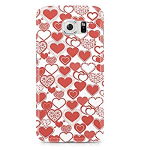 Samsung S6 Case Cute Heart Pattern For Valentines Day And Loved Ones, Great For Girls-Sleek Finish Durable Wrap Around Phone Cover 75