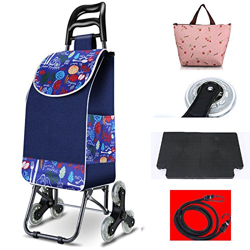 [XINXIKEJI]ショッピングカート ショッピングキャリー 折りたたみ 保温バッグ贈り かぎ付き3輪/30L/耐荷重35kg/階段登り 楽々 老人車 母の日/買い物/ギフト/バーベキュー/ピクニック 黒 B07CBVP8L2