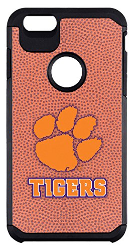 NCAA Clemson Tigers Classic Football Pebble Grain Feel iPhone 6 Plus Case, One Size, Brown