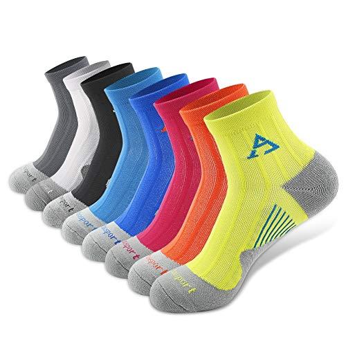 - Compression Socks, Fashion Ankle Socks Athletic & Medical for Men & Women, Running, Flight, Travel, Nurses - 8 Pairs L/XL