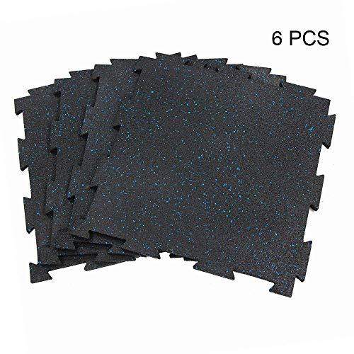 8 Inch Floor Tile - RevTime 6pcs Interlocking Rubber Floor Tile 20