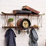 American Wall-mounted storage racks / wrought iron planes Wall-mounted pegs / coffee shop Wall-mounted shelves / bars Bedroom wall-mounted /(683218cm)