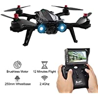 MJX Bugs 6 Foldable Drone B6 High Speed Motor Brushless Quadcopter Racing Drone with WIFI FPV 720P Camera D43 5.8G Receiver Display