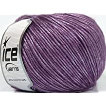 Lot of 8 Skeins Ice Yarns SILVER SHINE Hand Knitting Yarn Lavender