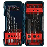 Bosch B46215 12 Piece Screw Extractor and Drill Set, Black Oxide