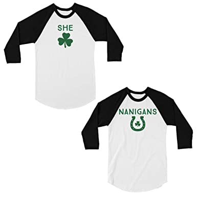c2d07de9233 365 Printing Shenanigans Best Friend Matching Baseball Shirt for St Paddy s  Day at Amazon Women s Clothing store
