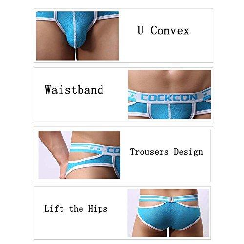Ropa Escritos Convexo Hombres Transpirable Hueco Fuera Pink U 3 Lace Paquete De Los Hba Sexy Panty xvIffq
