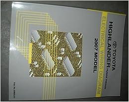 2007 toyota highlander hybrid wiring diagram manual: toyota: amazon com:  books