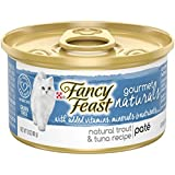 Purina Fancy Feast Gourmet Naturals Grain Free Pate Trout & Tuna Recipe Adult Wet Cat Food - (12) 3 oz. Cans