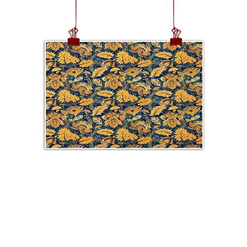 Music Box Garden Oriental - Decorative Music Urban Graffiti Art Print Asian,Medieval Oriental Flower Motifs Exotic Fantasy Garden Theme Eastern Ethnic Pattern, Multicolor 32