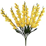 "Kampoojoo - Yellow Gladiolus Bush 26"" Tall Decor Wedding Silk Flowers Centerpieces"