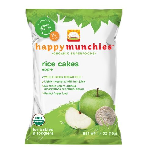 Happy Munchies Organic Rice Cakes for Babies, Apple 1.4 oz (40 g) (Pack of 1)
