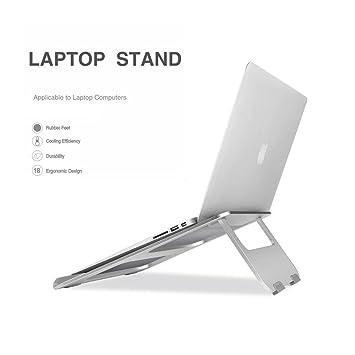 Plegable portátil soporte, soporte de escritorio de aluminio sólido soporte de ventilación de aluminio actualizar