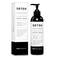 All Natural Activated Charcoal Facial Cleanser - Organic Daily Acne Treatment, Face...