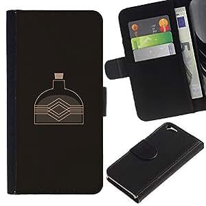EJOY---Tirón de la caja Cartera de cuero con ranuras para tarjetas / Apple Iphone 6 / --La caldera del agua