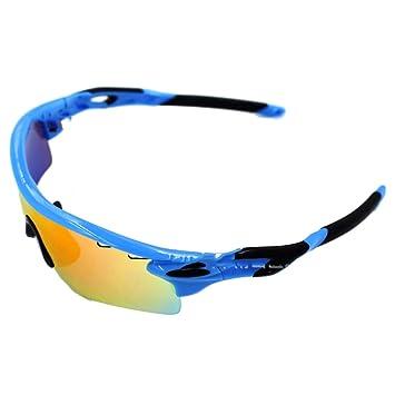TZQ Riding Glasses Wind Mirrors Sports De Plein Air Lunettes De Soleil Polarisantes Lunettes De Ski Anti-buée,D