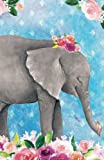img - for Bullet Journal For Animal Lovers Baby Elephant In Flowers: 162 Numbered Pages With 150 Dot Grid Pages, 6 Index Pages and 2 Key Pages in Easy To Carry ... Size (Bullet Journal Dot Grid) (Volume 4) book / textbook / text book