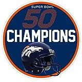 Denver Broncos Super Bowl 50 Champions 6x6 Helmet Vinyl Repositionable Decal