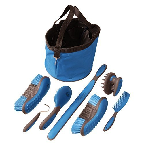 Tough 1 Great Grip Grooming Package (8-Piece), Blue by Tough 1