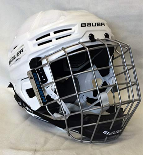 Bauer IMS 5.0 Hockey Helmet with Cage - White Size Large