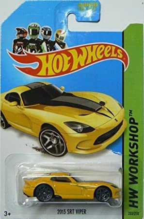 Hot Wheels Hw Garage 2014 Hw Workshop Yellow 2013 SRT Viper 203/250 by Mattel [Toy] (English Manual): Amazon.es: Juguetes y juegos