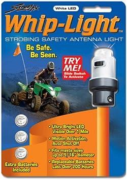 Street FX 1044305 White ATV Antenna Whip Light