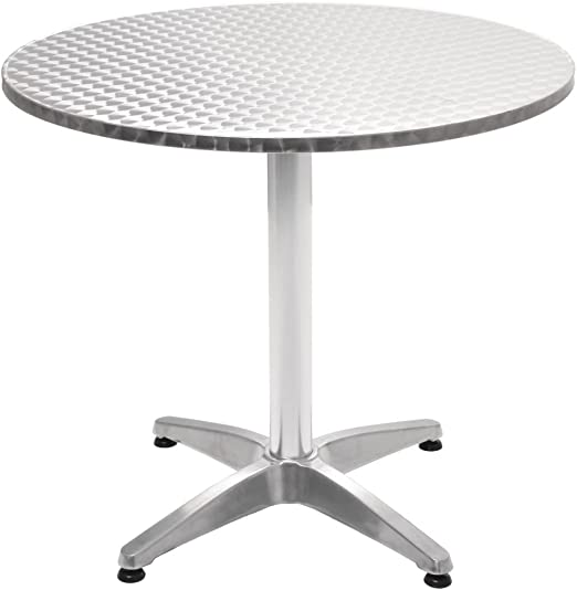 Festnight Table de Jardin Ronde en Aluminium 80 x 70 cm ...