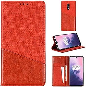 Avanzado Caja del teléfono for OnePlus 7 Caso, Caso de absorción de impactos costura de cuero