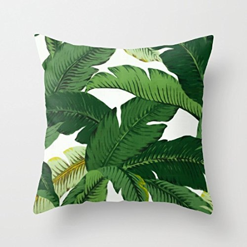 "Price comparison product image Sofapartner Banana Leaves Canvas Throw Pillow Covers 18""x 18"""