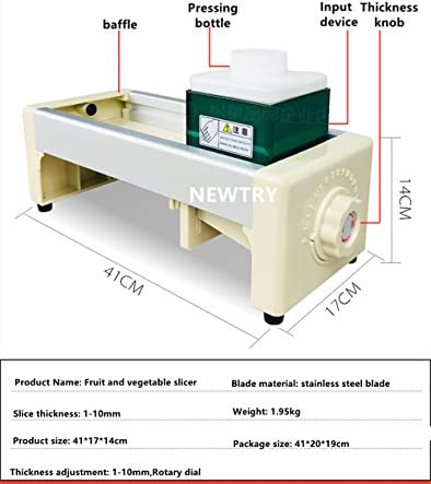 One machine NEWTRY Commercial Fruit and Vegetable Slicer Stainless ...