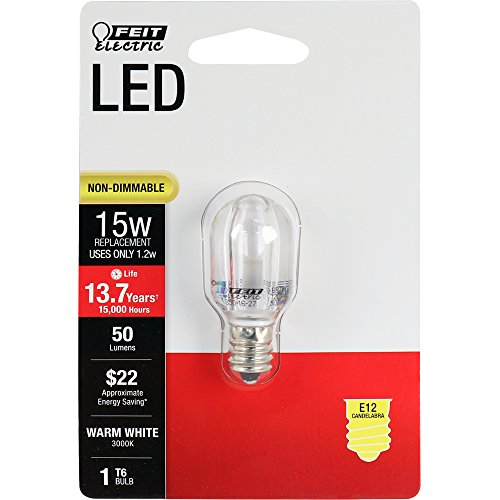 (Feit Electric BPT6/SU/LED Feit 15W Equivalent T6 Warm White Special Use Non-Dimmable LED Light Bulb)