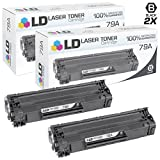 LD Compatible Toner Cartridge Replacements for HP 79A (Black, 2-Pack)