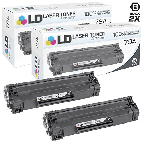 LD Compatible Toner Cartridge Replacements for HP 79A (Black, 2-Pack) by LD Products
