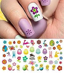 Easter Nail Decals Assortment #2 Water Slide Nail Art Decals - Salon Quality 5.5 X 3 Sheet!
