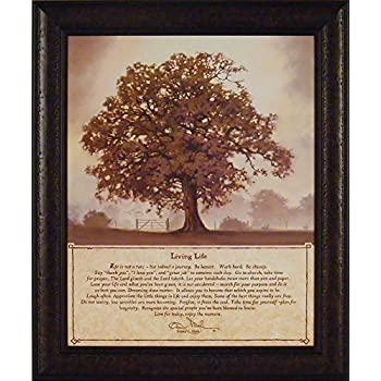 Charming Living Life By Bonnie Mohr 20x24 Life Is A Journey Inspirational Quote Tree  Framed Art Print