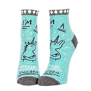 Unicornio Calcetines en turquesa en par–Special Unicorn calcetín