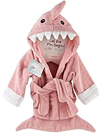Baby Girls' Hooded Shark Robe - Let the Fin Begin - Pink- 0-9 Months