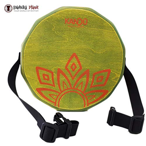 KTÄK -The First Handcrafted, Hand Drum Percussion, Two-Sound Cajón Body Snare, Portable Cajon by Kandu (Green Acid)