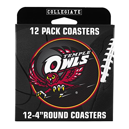 NCAA Temple Owls Pulpboard Coasters, Set of (Temple Owls Ncaa Basketball)