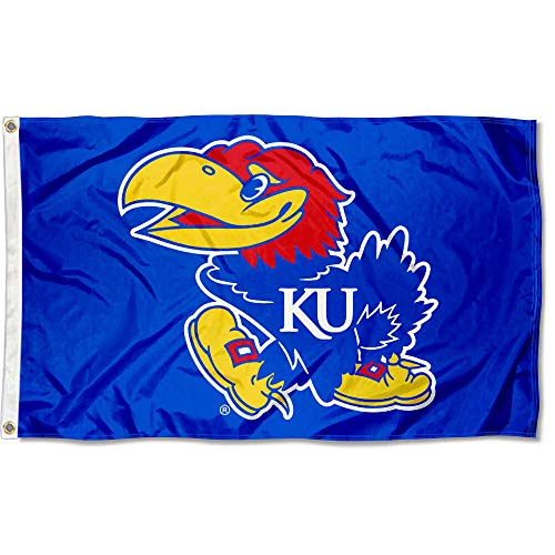 College Flags and Banners Co. Kansas Jayhawks Flag ()