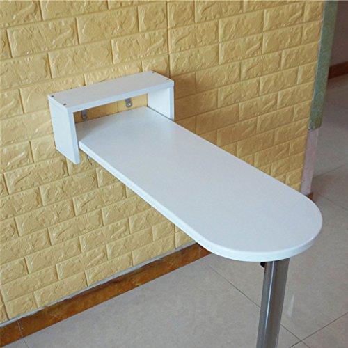 Zfggd KTV Furniture Bar Mesa Alta Mesa contra la Pared Simple Mesa Plegable Moderna Mesa de Comedor Blanca Redonda Madera Ancho 20cm / 30cm / 40cm (Size : 85 * 20 * 80cm)