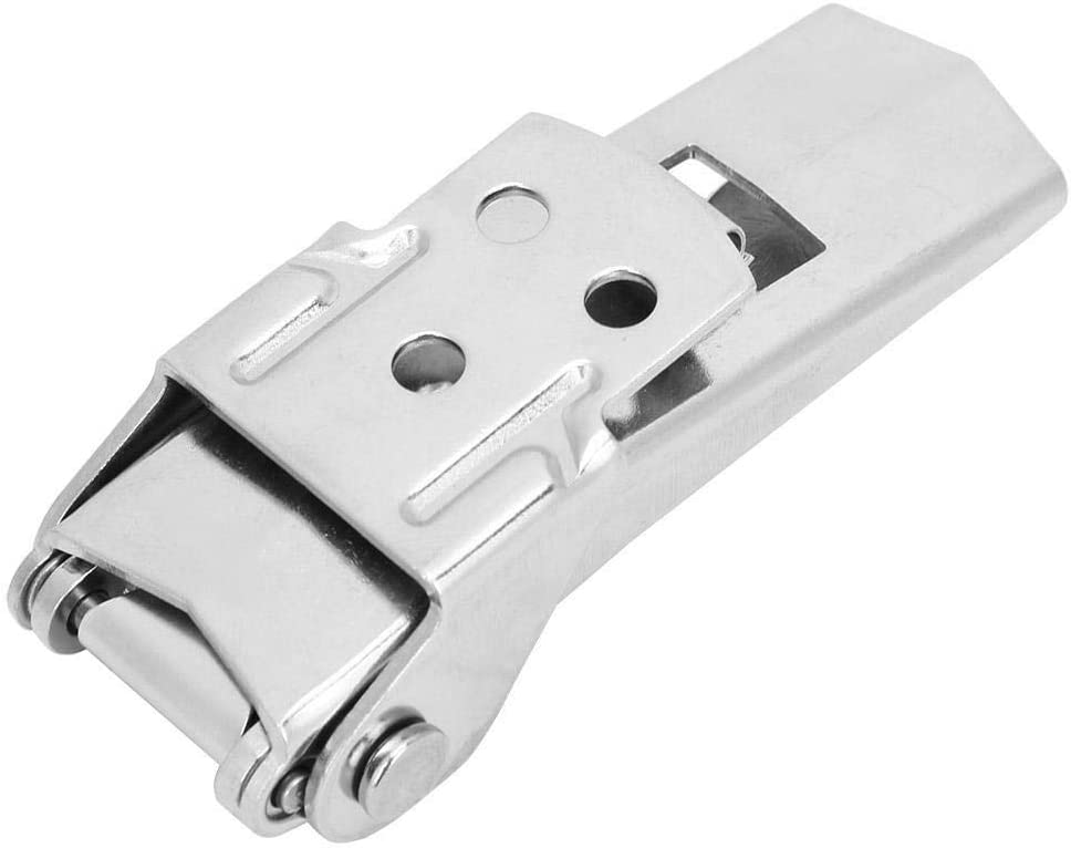 Maxmartt Stainless Steel Adjustable Concealed Hasp Lock Self Locking Toggle Latch Catch Buckle