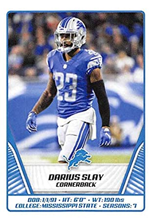 the latest 8deb6 61086 Amazon.com: 2019 Panini NFL Sticker #381 Darius Slay Detroit ...