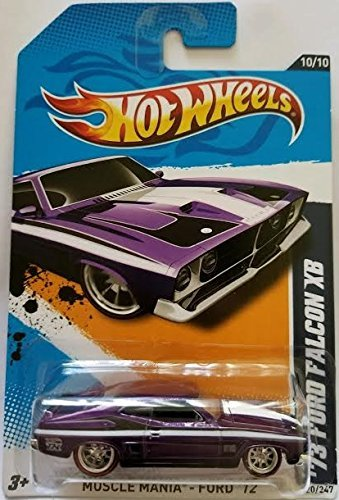 Hot Wheels 73 Ford Falcon XB Spectraflame Purple Super Treasure Hunt 2012 Muscle Mania Ford Card 120 (Ford Falcon Hot Wheels)