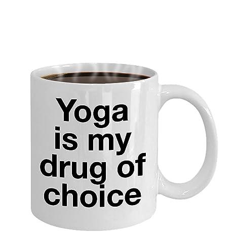 Amazon.com: Taza de yoga con texto en inglés